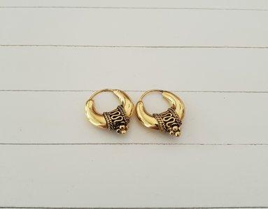 Zilveren oorbellen met gouden laag