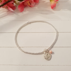 Zilveren armband met bedel