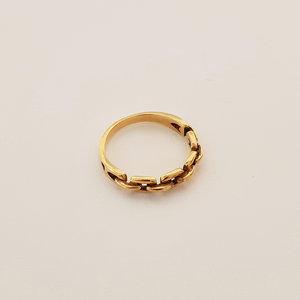 Gouden vlecht ring