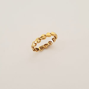 Golden ring with heart
