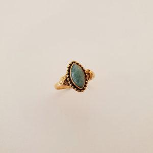 Gouden ring met Amazonite