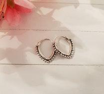Zilveren Boho oorbellen